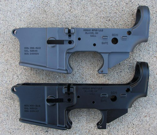 Colt Gray Lower Receivers from Nodak Spud