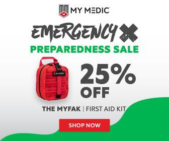 My Medic 25% Off For Emergency Preparedness Month